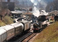 Bluebell Railway 1990s (08) Horsted Keynes SECR C class 592