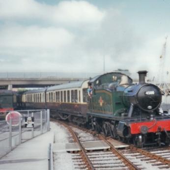 Paignton and Dartmouth Railway 1990s (2) Churston BR prairie 4575 no 4588