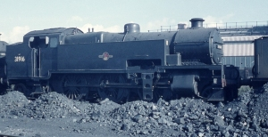 Railway Slide ex SR Maunsell 2-6-4T number 31916 Eastleigh MPD 1961 Kodachrome sold by ingotbar with copyright