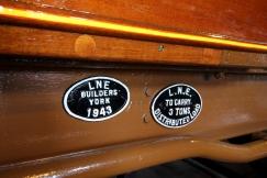 Severn Valley Railway July 2016 Kidderminster Carriage Shop (07) LNER Brake Pigeon Van 70759 converted to brake 3rd corridor 24506