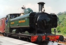 South Devon Railway 1990s GWR pannier tank 57xx 7760