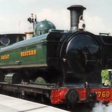 South Devon Railway 1990s GWR pannier tank 57xx 7760