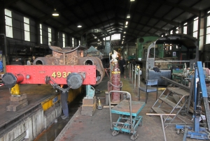 Severn Valley Railway Bridgnorth loco works open day July 2016 (02) GWR 49xx 4930 Hagley Hall