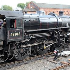 Severn Valley Railway Kidderminster July 2016 Ivatt 4MT 2-6-0 43106 mucky duck (03)