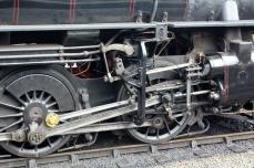 Severn Valley Railway Kidderminster July 2016 Ivatt 4MT 2-6-0 43106 mucky duck (04) valve gear