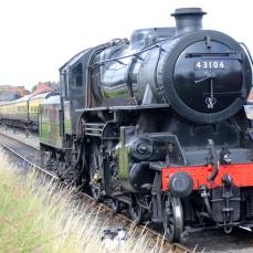 Severn Valley Railway Kidderminster July 2016 Ivatt 4MT 2-6-0 43106 mucky duck (06)