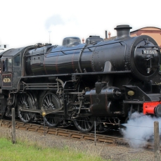 Severn Valley Railway Kidderminster July 2016 Ivatt 4MT 2-6-0 43106 mucky duck (08)