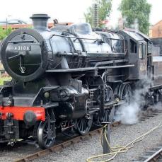 Severn Valley Railway Kidderminster July 2016 Ivatt 4MT 2-6-0 43106 mucky duck (10)