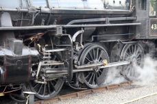 Severn Valley Railway Kidderminster July 2016 Ivatt 4MT 2-6-0 43106 mucky duck (11)
