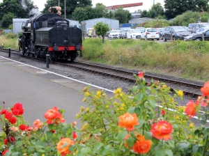 Severn Valley Railway Kidderminster July 2016 Ivatt 4MT 2-6-0 43106 mucky duck (13) flowers