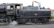 Severn Valley Railway Kidderminster July 2016 Ivatt 4MT 2-6-0 43106 mucky duck (15) tender