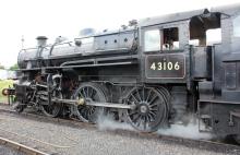 Severn Valley Railway Kidderminster July 2016 Ivatt 4MT 2-6-0 43106 mucky duck (17)